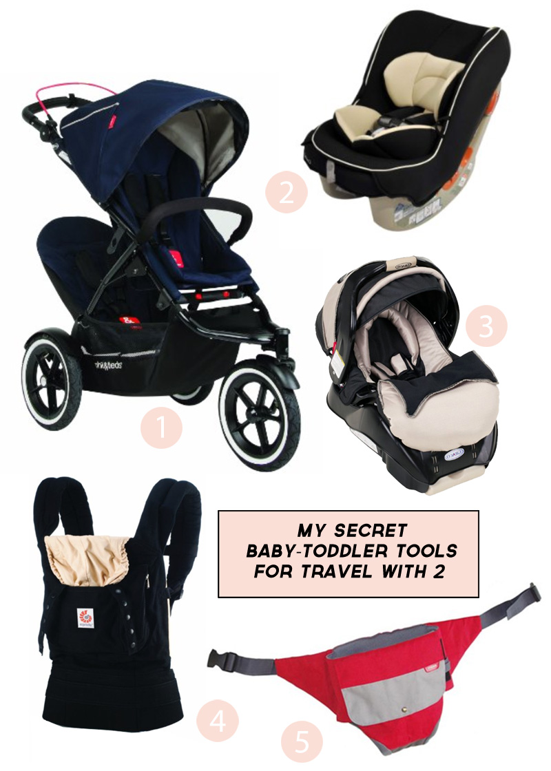 My Secret Baby-Toddler Tools for Travel with 2 | PepperDesignBlog.com