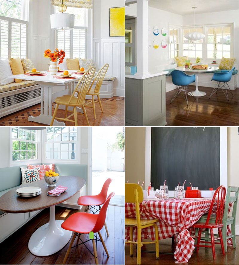 Kitchen Nook Breakfast Chair Inspiration | PepperDesignBlog.com