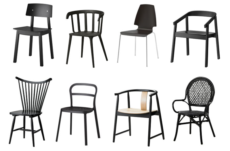 A New Black *Ikea* Chair for the Kitchen Breakfast Nook | PepperDesignBlog.com