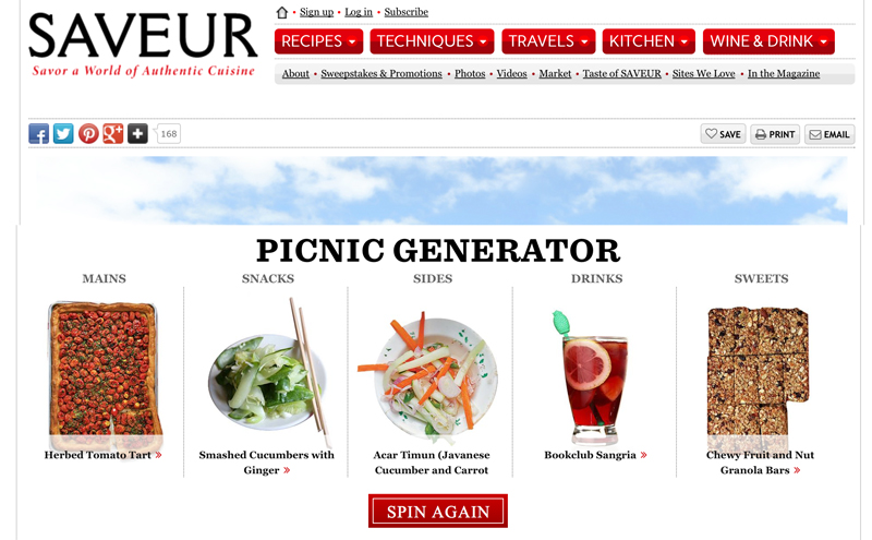 Saveur Website Feature | PepperDesignBlog.com