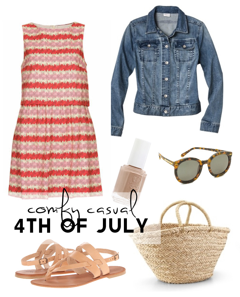 Wardrobe Style Board: 4th of July Comfy Casual | PepperDesignBlog.com