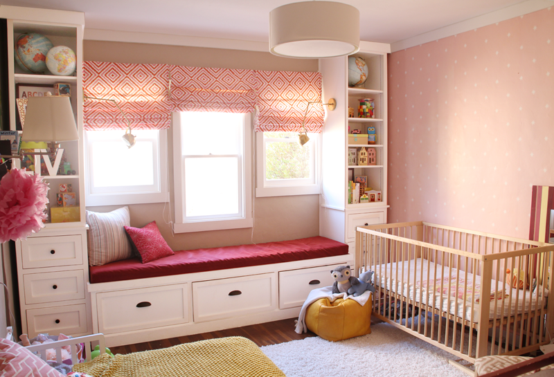 Pink Nursery/Girls' Room | PepperDesignBlog.com
