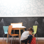 Maker's Space - Arts & Crafts Desk - Chalkboard Wall | PepperDesignBlog.com