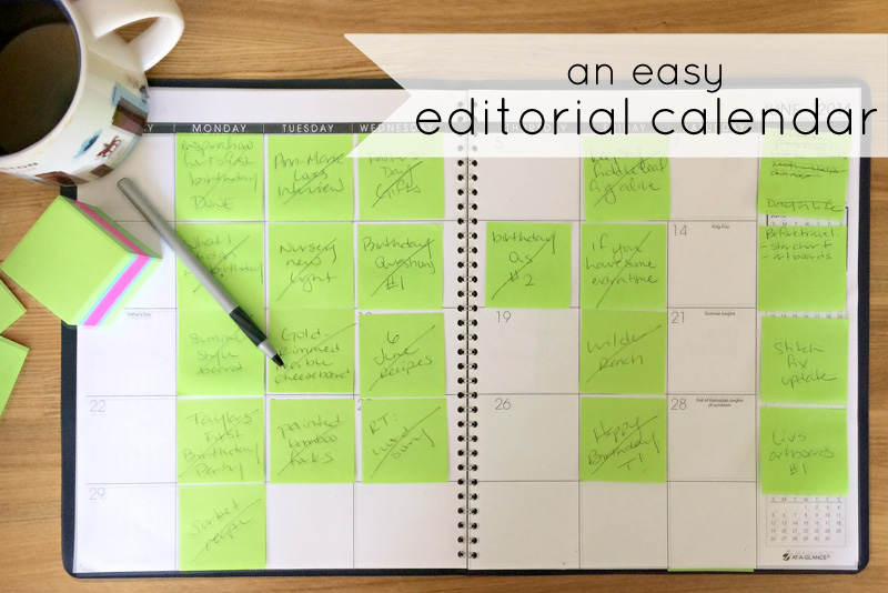 Blogging Editorial Calendar | PepperDesignBlog.com
