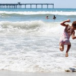 Labor Day Summer Fun - Liv Jumping Waves | PepperDesignBlog.com