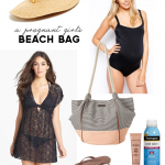 A Pregnant Girl's Beach Bag | PepperDesignBlog.com