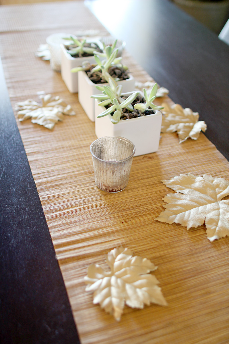 Our Home, Fall 2014 | DIY Gold Painted Leaves | PepperDesignBlog.com