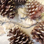 Decorating for Fall | Gold Tipped Pine Cones | PepperDesignBlog.com
