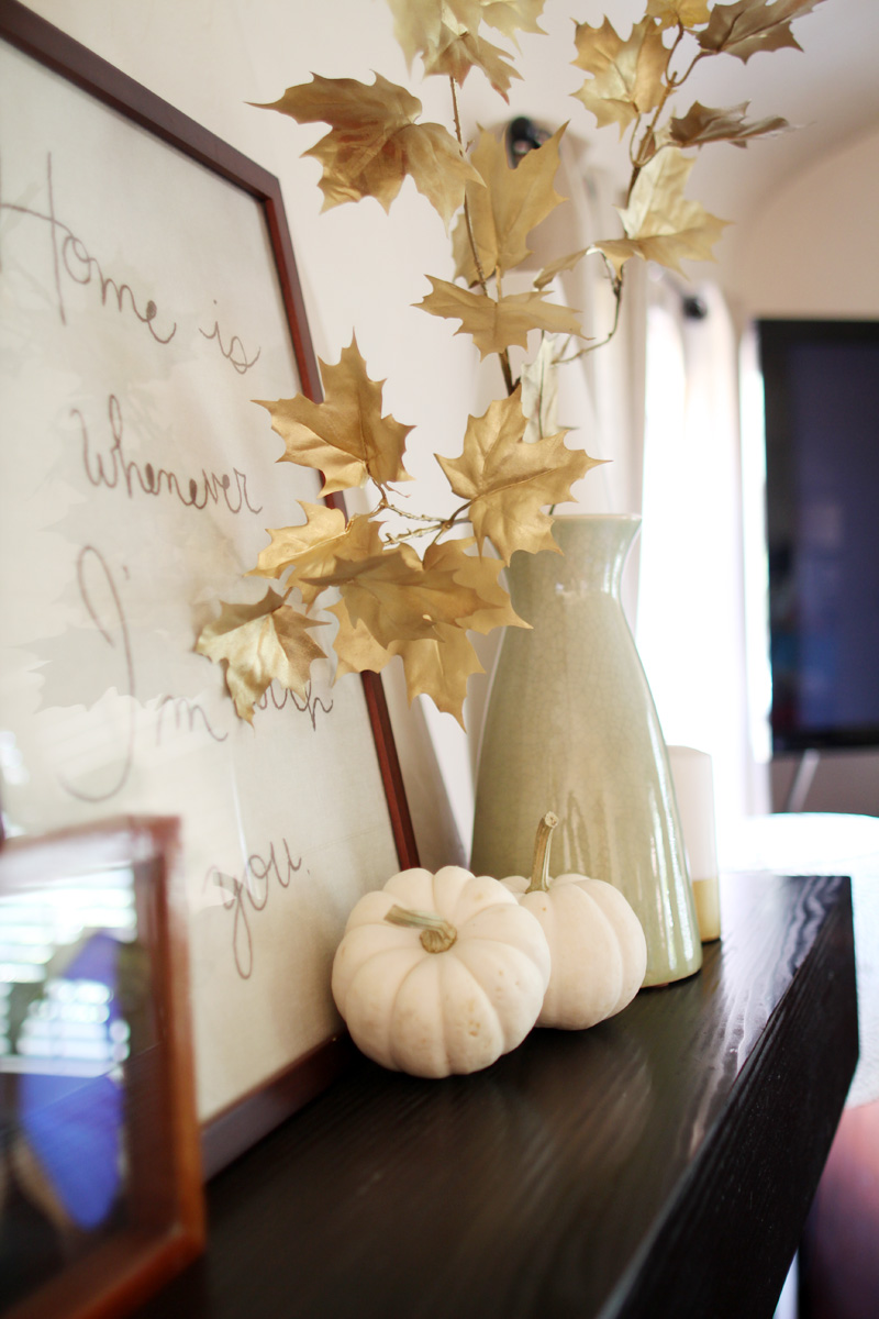 Our Home, Fall 2014 | Mantel | PepperDesignBlog.com