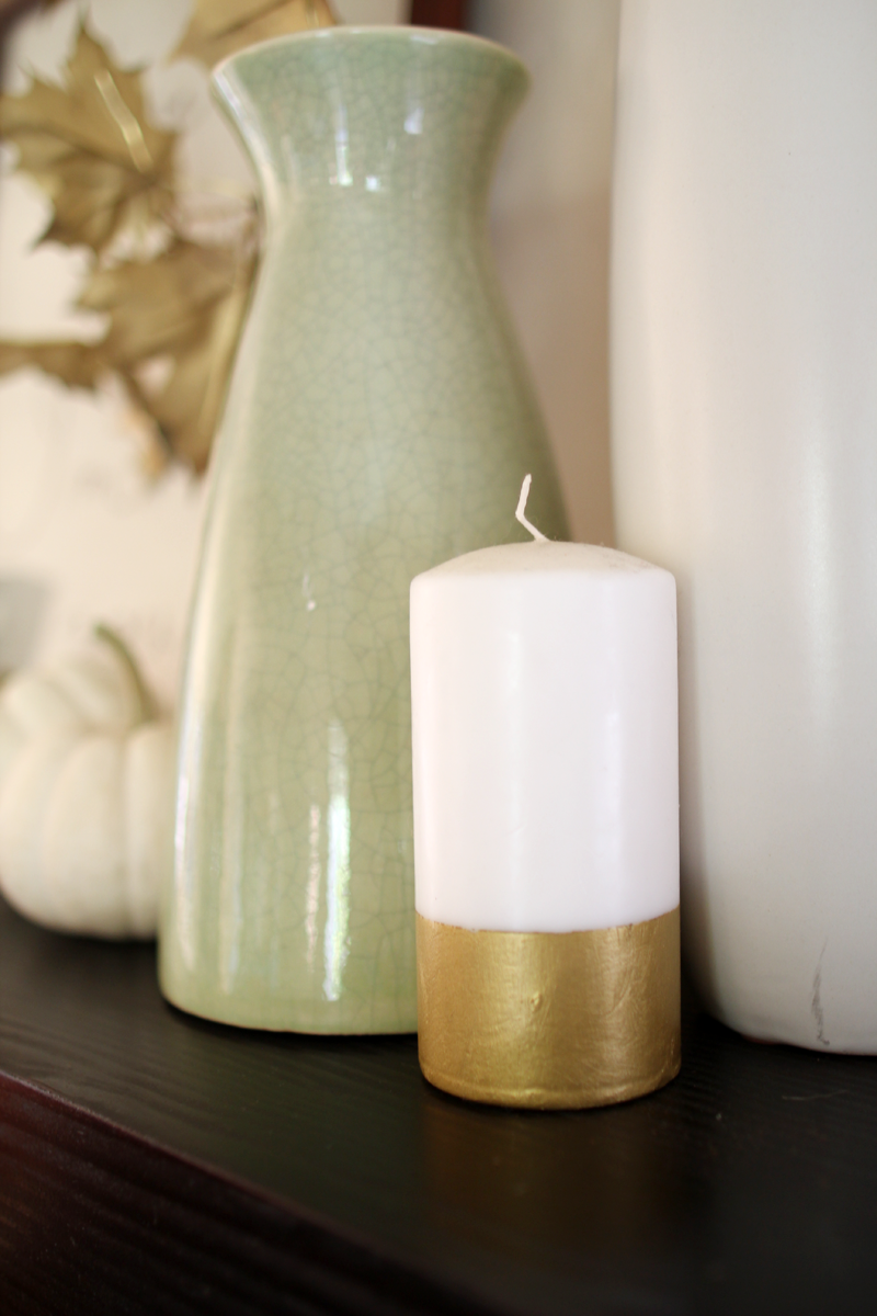 Our Home, Fall 2014 | DIY Gold Striped Candle | PepperDesignBlog.com