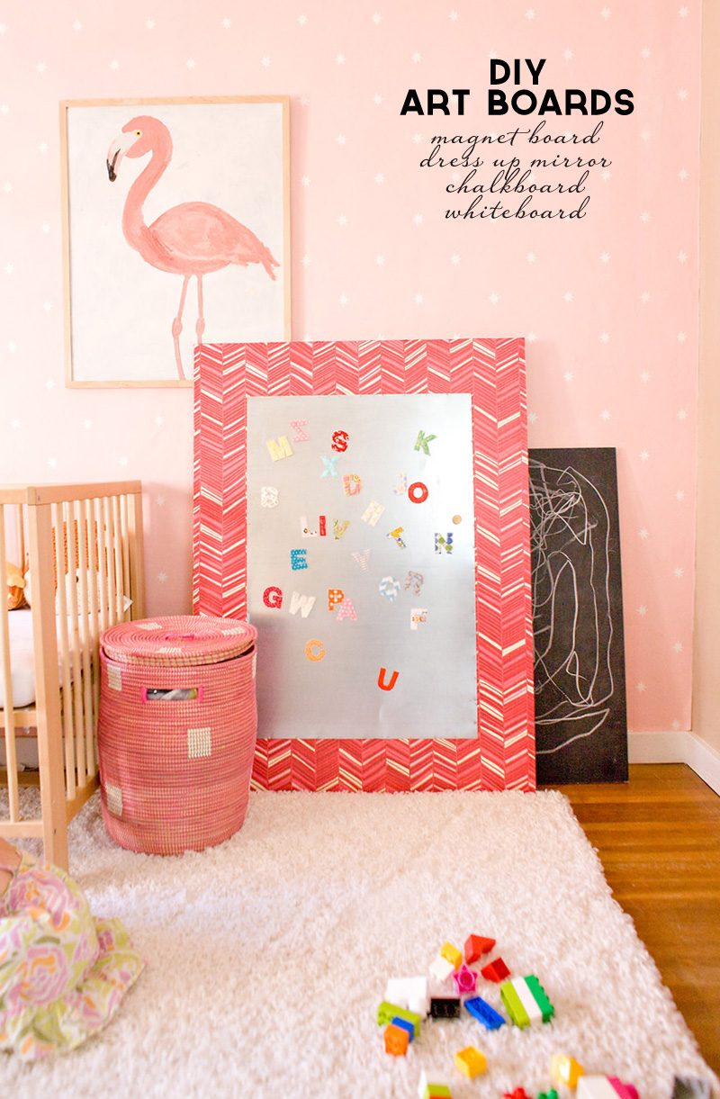 Building Art Boards | Chalkboard, Whiteboard, Magnet Board, Dress Up Mirror | PepperDesignBlog.com