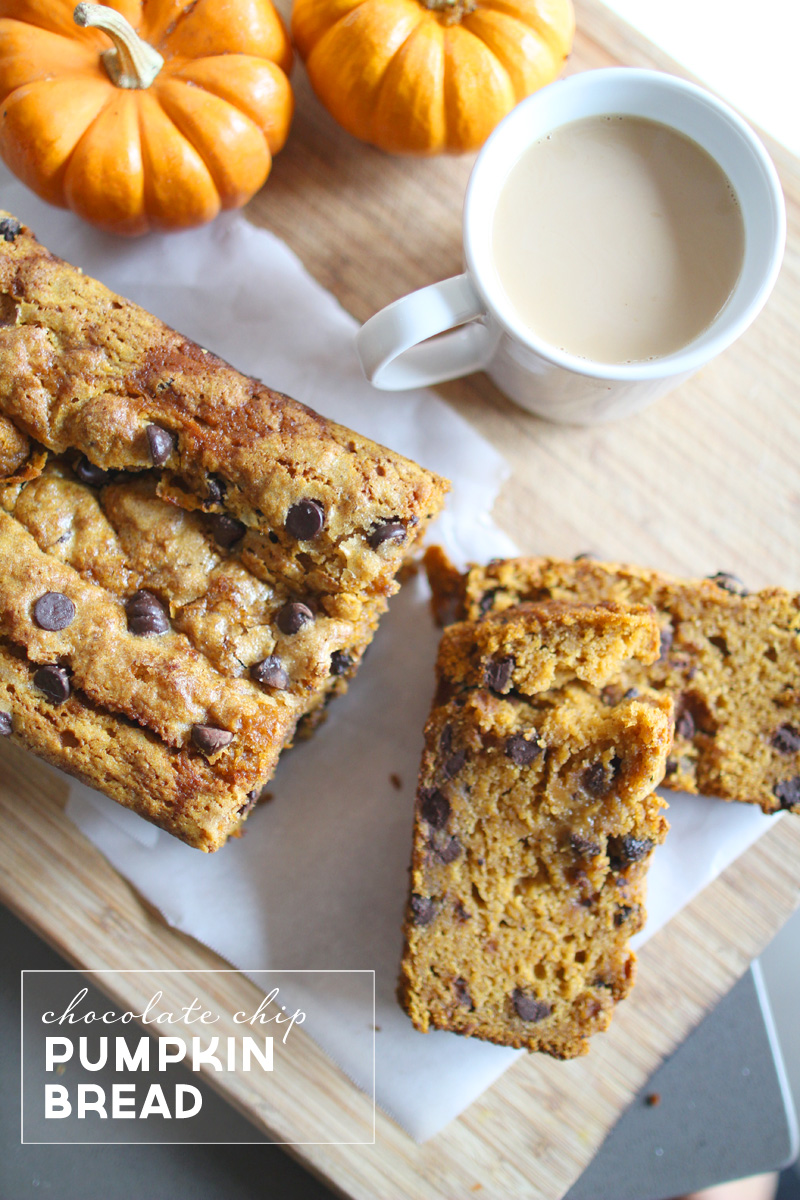 Best Pumpkin Bread (with chocolate chips) Recipe | PepperDesignBlog.com