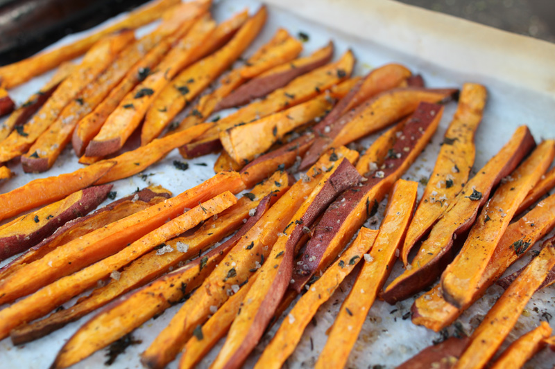 Roasted Sweet Potato Fries | PepperDesignBlog.com