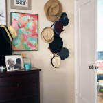 A Vintage Wooden Hat Rack