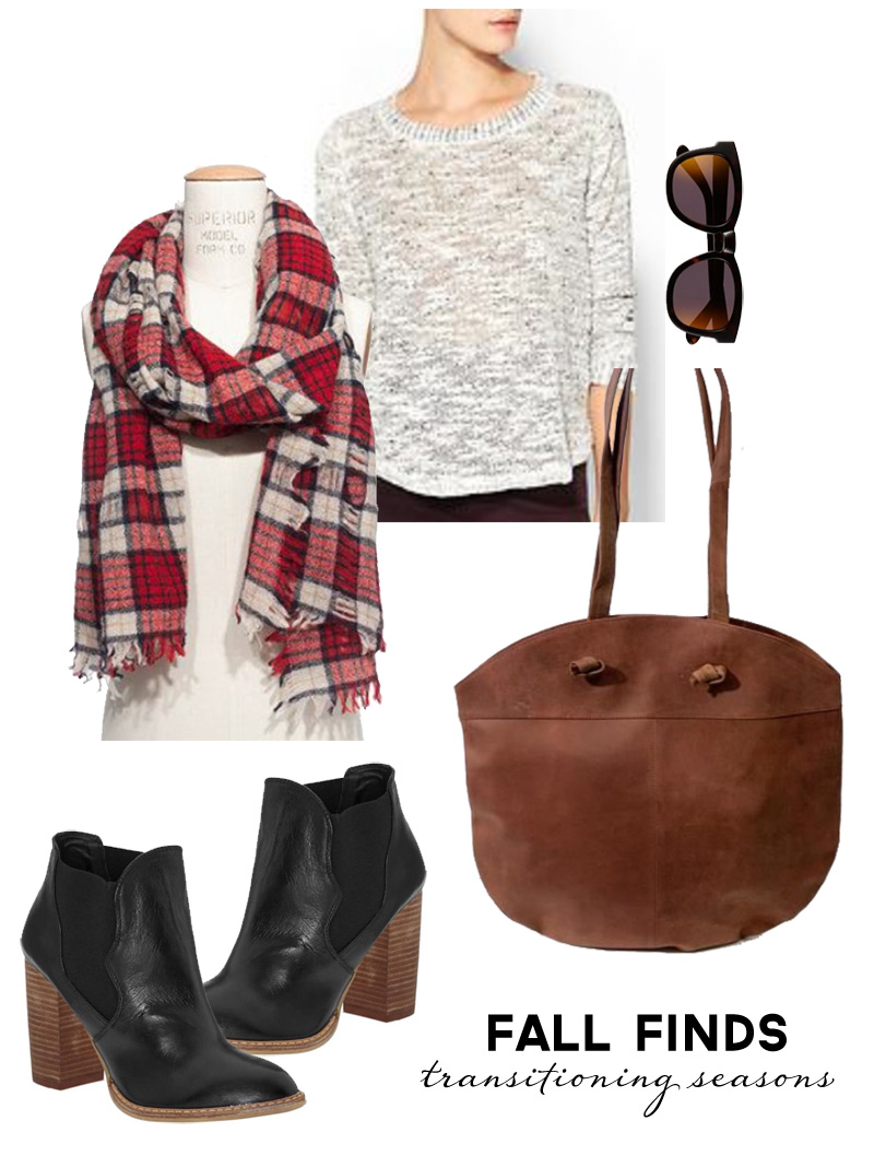 Wardrobe Style Board: Fall Finds | Transitioning Seasons | Plaid, Leather, Sweaters & Boots | PepperDesignBlog.com
