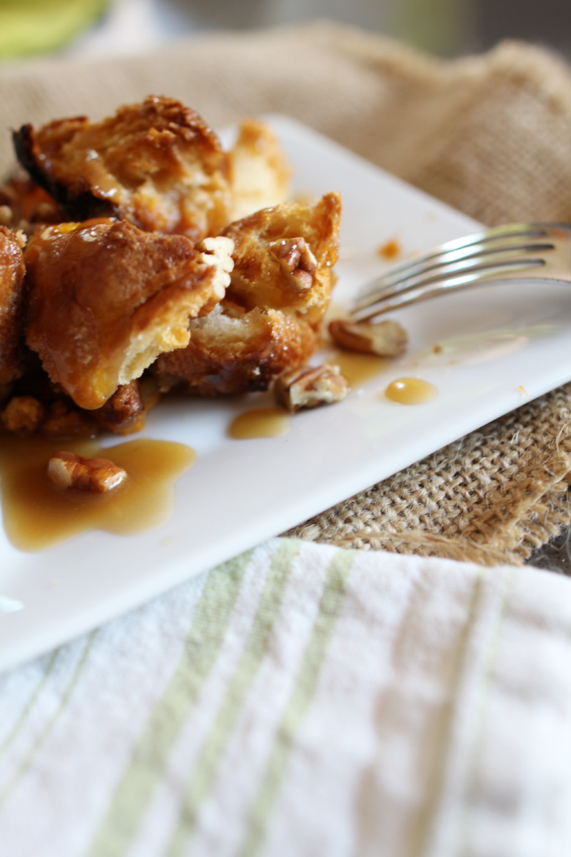 Caramelized Pumpkin Croissant Bread Pudding | PepperDesignBlog.com