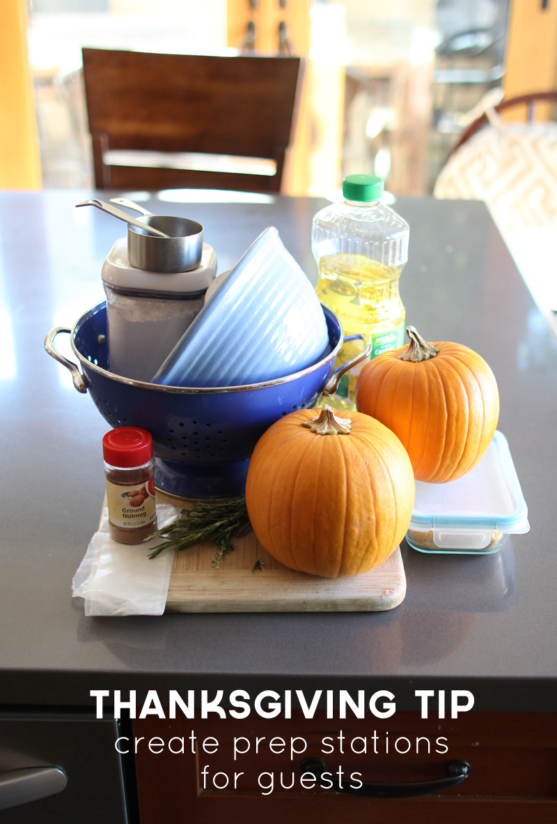Thanksgiving Tip: Create Prep Stations for Guests | PepperDesignBlog.com