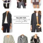 Wardrobe Style Board: Oversized Cardigans & Sweater Jackets | Grey Wool, Drape Cardigan, Belted Sweater, Plaid, Black & White, Cocoon Cardigans | PepperDesignBlog.com