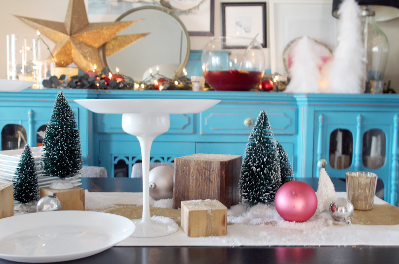 Our Home for the Holidays | Christmas 2014 | Miniature Tree Party Tablescape | PepperDesignBlog.com