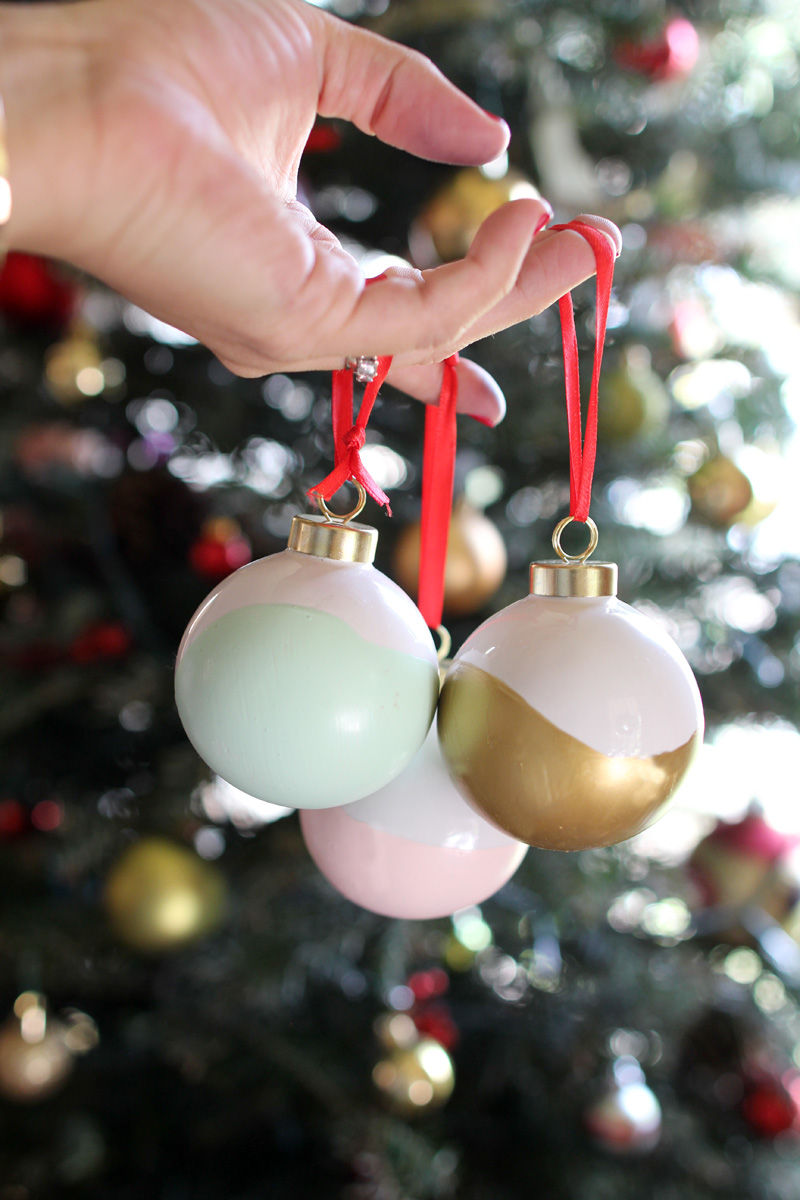 Our Home for the Holidays | Christmas 2014 | Hand Dipped Ornaments | PepperDesignBlog.com