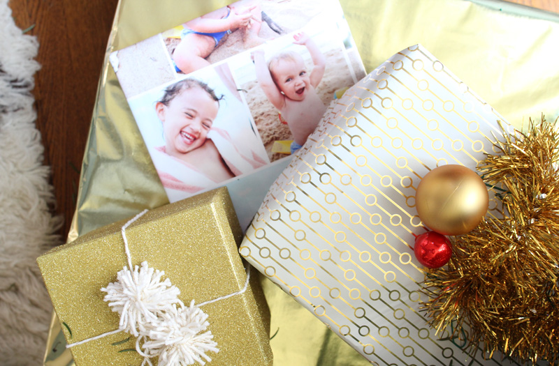 Our Home for the Holidays | Christmas 2014 | Gold Wrapping Paper, Shutterfly Custom Wrapping Paper | PepperDesignBlog.com