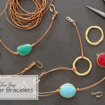 Handmade Gifts: Two Step Leather Bracelets | PepperDesignBlog.com