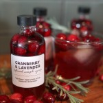 Handmade Gift & Holiday Cocktail: Cranberry & Lavender Infused Simple Syrup