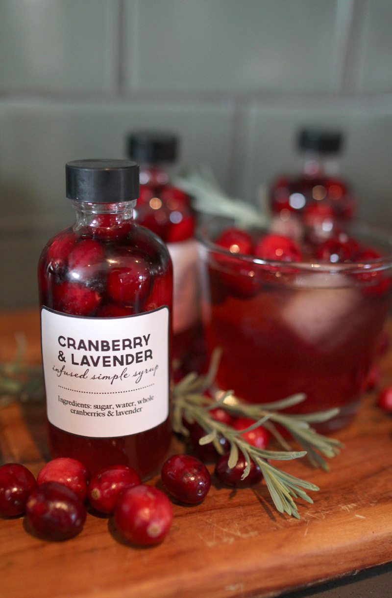Handmate Gifts: Cranberry & Lavender Infused Simple Syrup | A Holiday Cocktail | PepperDesignBlog.com