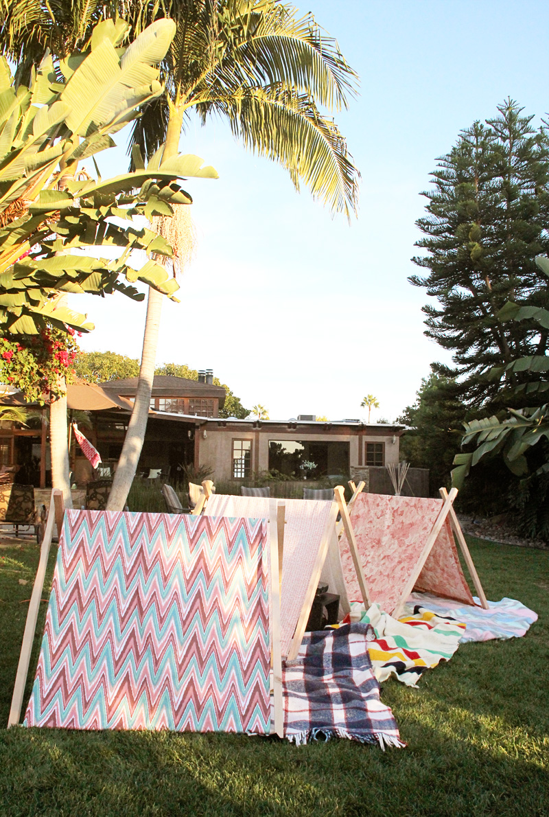 Homemade A-Frame Tents | PepperDesignBlog.com