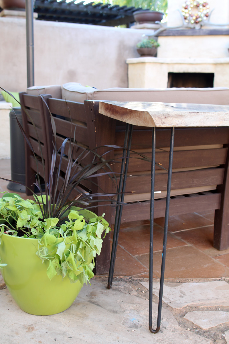 Our Renovated Backyard | Hairpin Legs Bar Table |  PepperDesignBlog.com