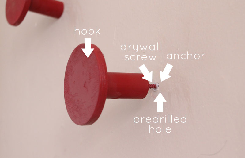 DIY Wall Hooks | PepperDesignBlog.com