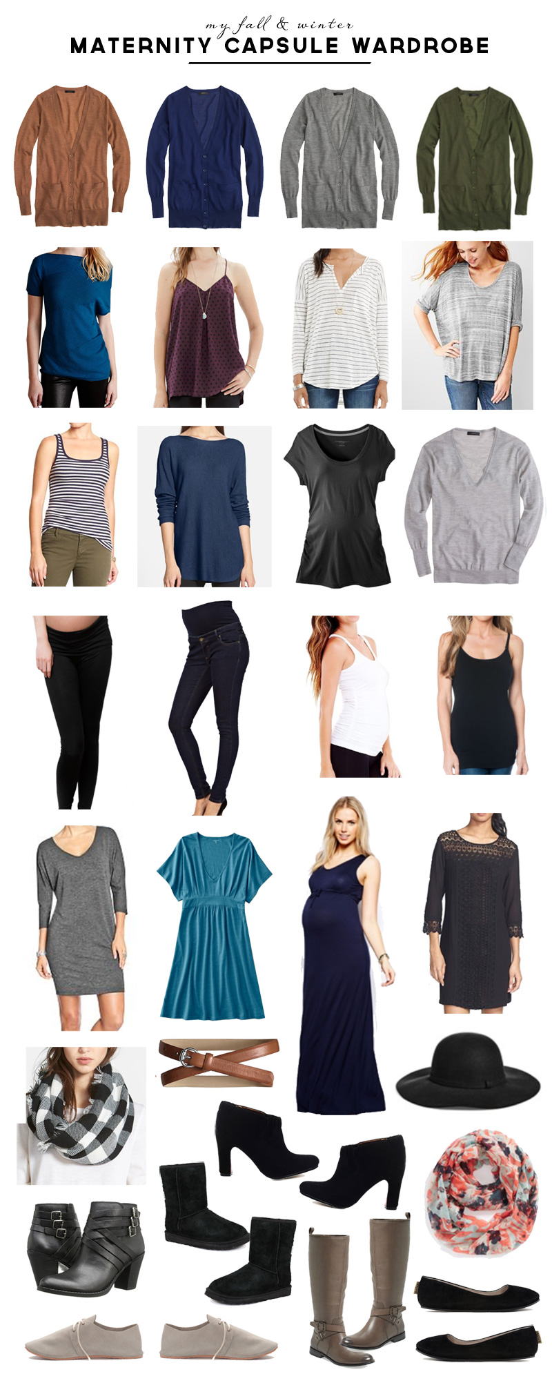 Fall & Winter Maternity Capsule Wardrobe | PepperDesignBlog.com