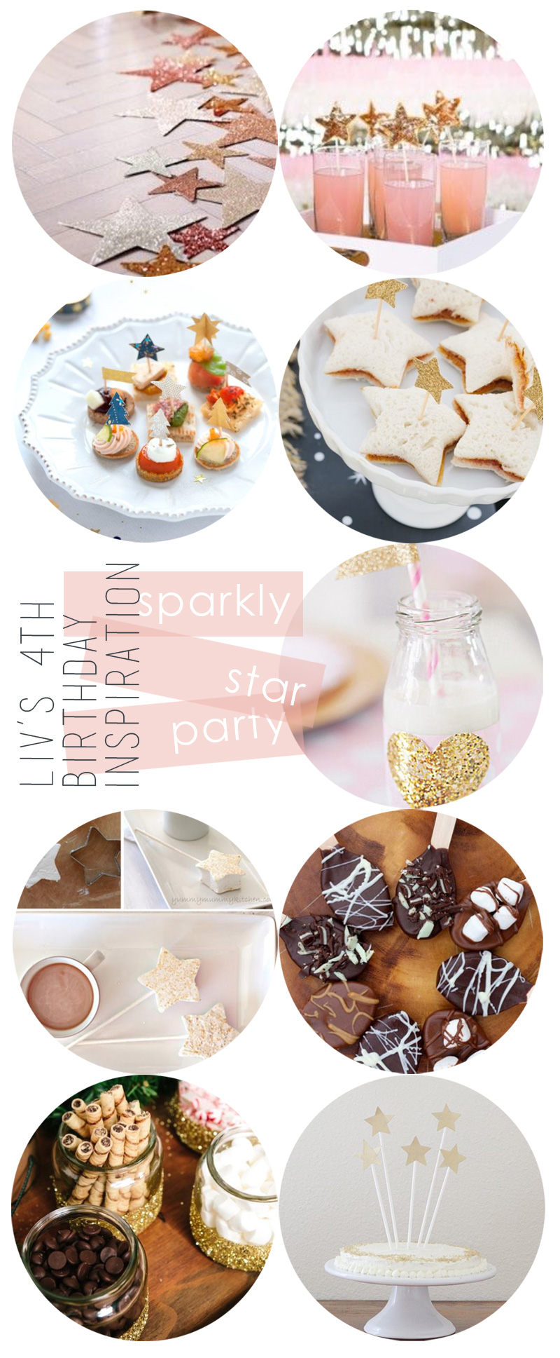 Liv's Sparkly Star 4th Birthday Party Inspiration | PepperDesignBlog.com