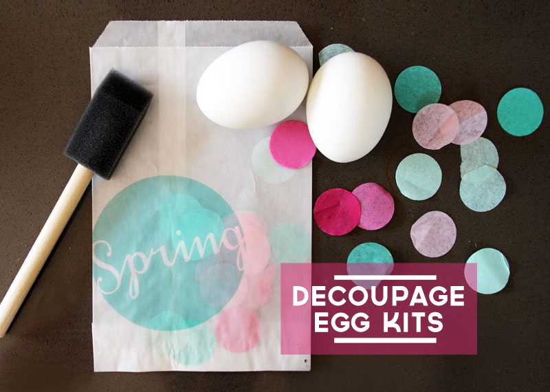 Welcome, Spring Egg Decoupage Kits | PepperDesignBlog.com