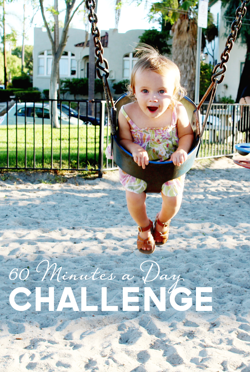 60 Minutes of Play a Day Challenge | PepperDesignBlog.com