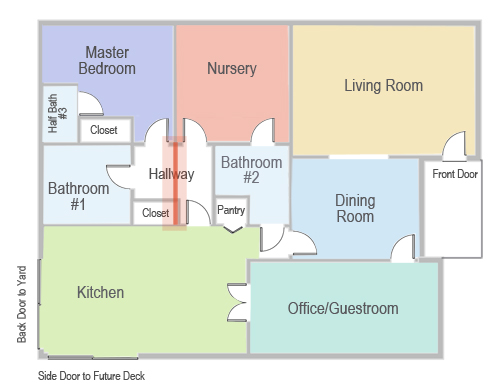 Our Floor Plan: Temporary Wall for the Master Bedroom & Bathroom | PepperDesignBlog.com
