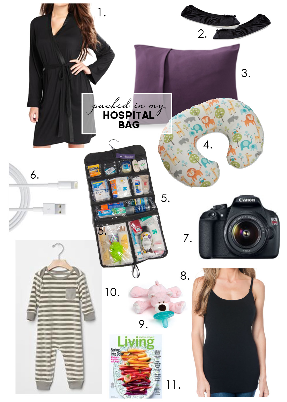 My Hospital Bag | PepperDesignBlog.com
