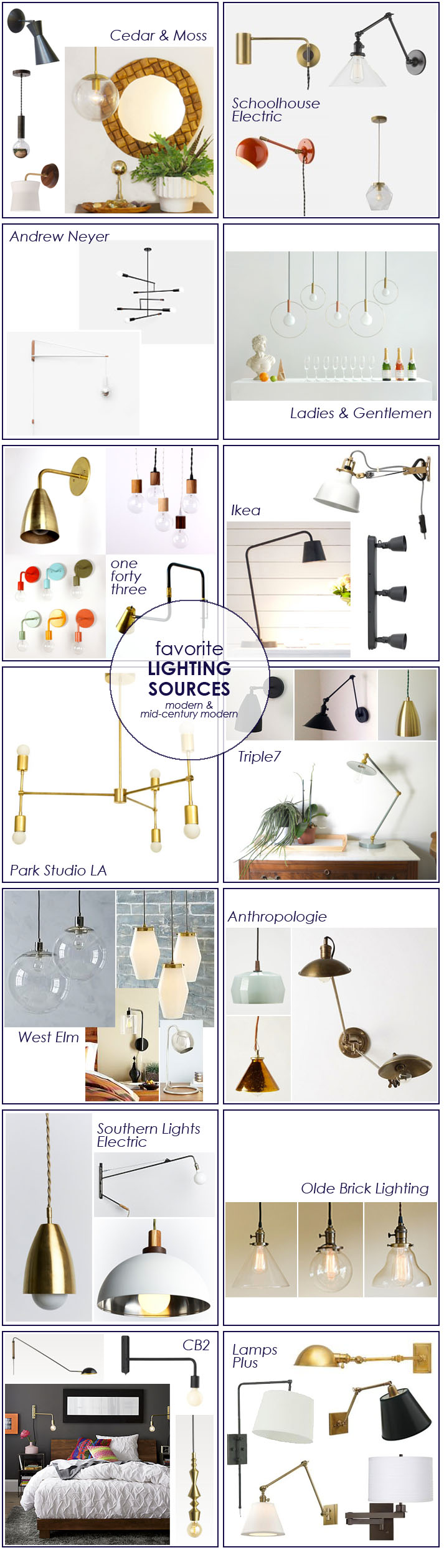 Favorite Home Modern & Mid-Century Modern Lighting Resources | PepperDesignBlog.com