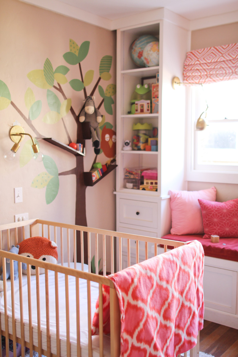 Girls' Room - New Crib Layout & Monitor | PepperDesignBlog.com