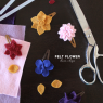 DIY Felt Flower Hair Clip Tutorial | PepperDesignBlog.com