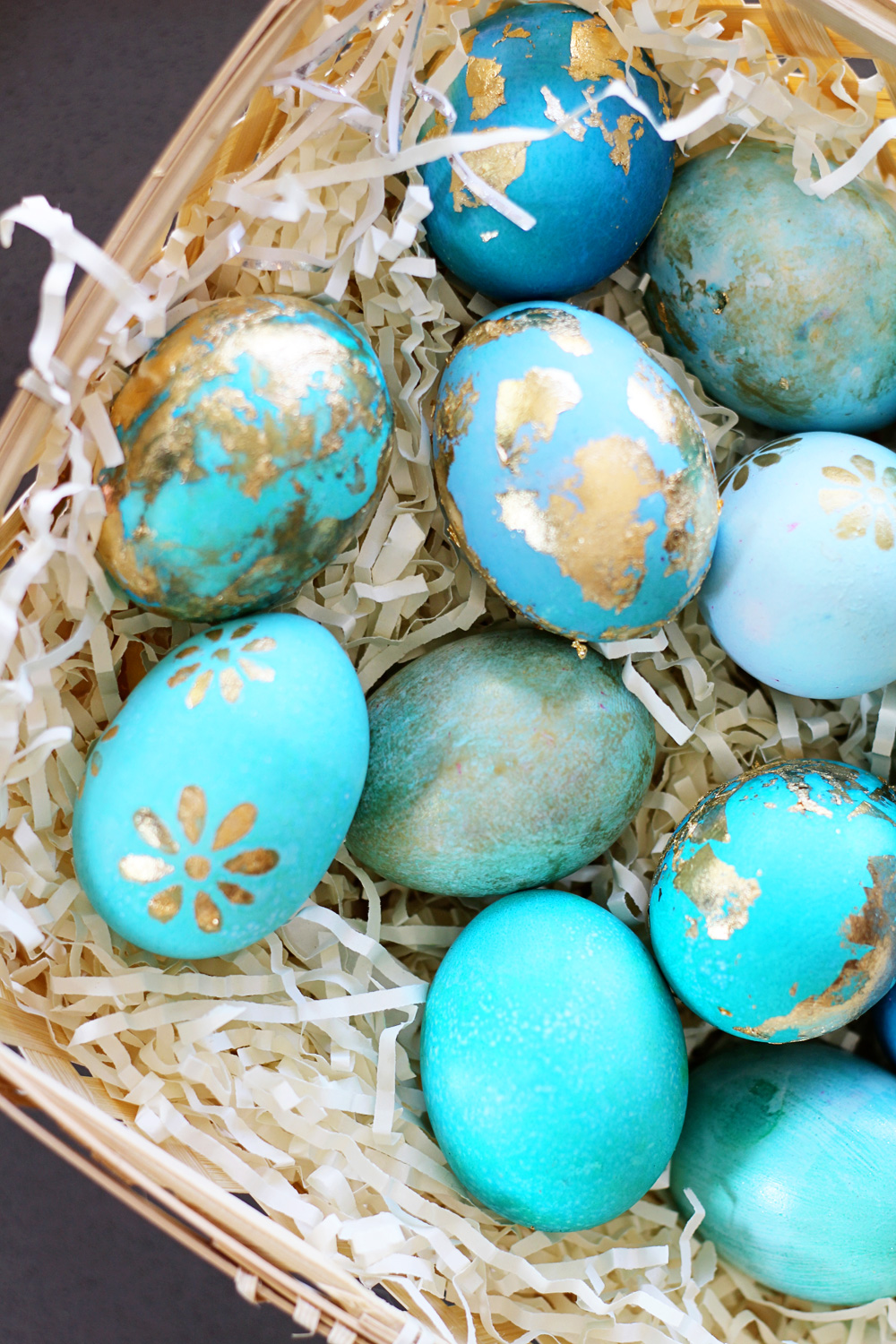 Foil Easter Decorations Dying Easter Eggs | Gold Foil