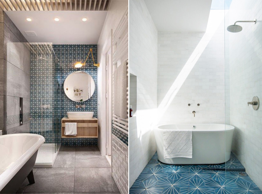 Beau Master Bathroom Cement Tile Inspiration | PepperDesignBlog.com
