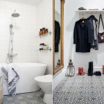 Master Bath & Bedroom: Cement Tile