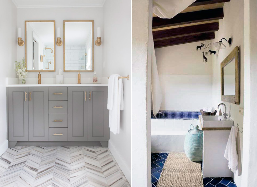 Master Bathroom Tile master bath & bedroom: cement tile - pepper design blog