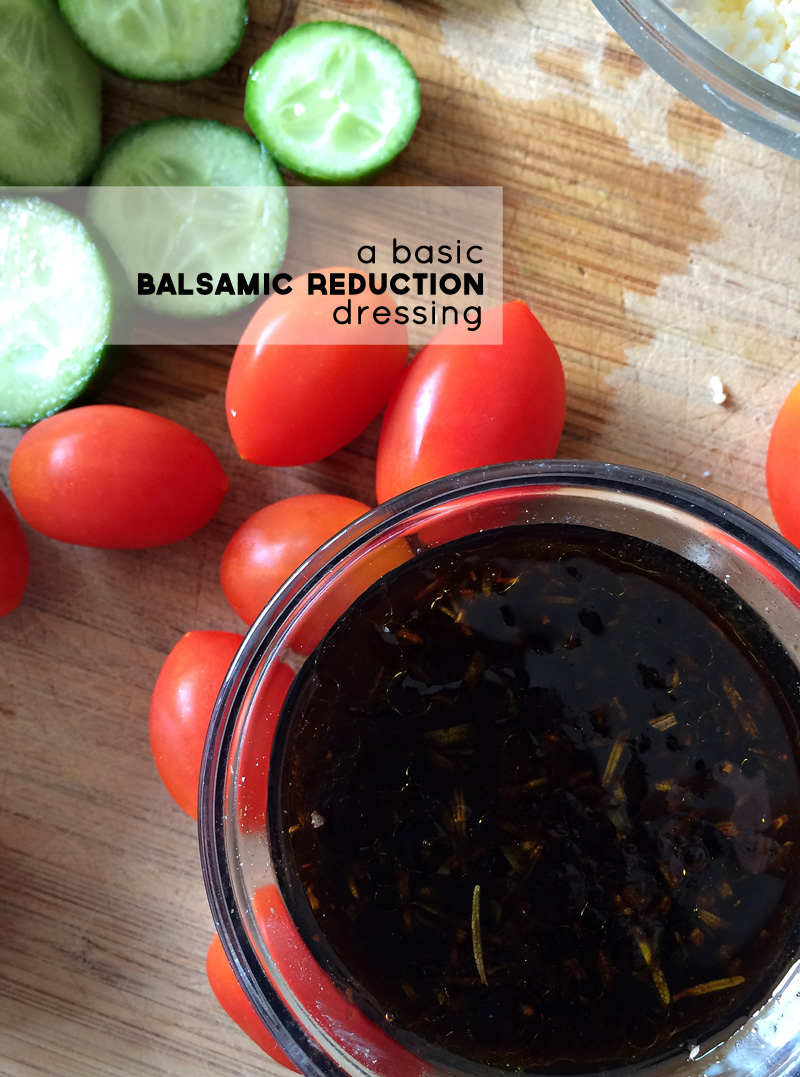 Honey & Rosemary Balsamic Reduction Dressing | PepperDesignBlog.com