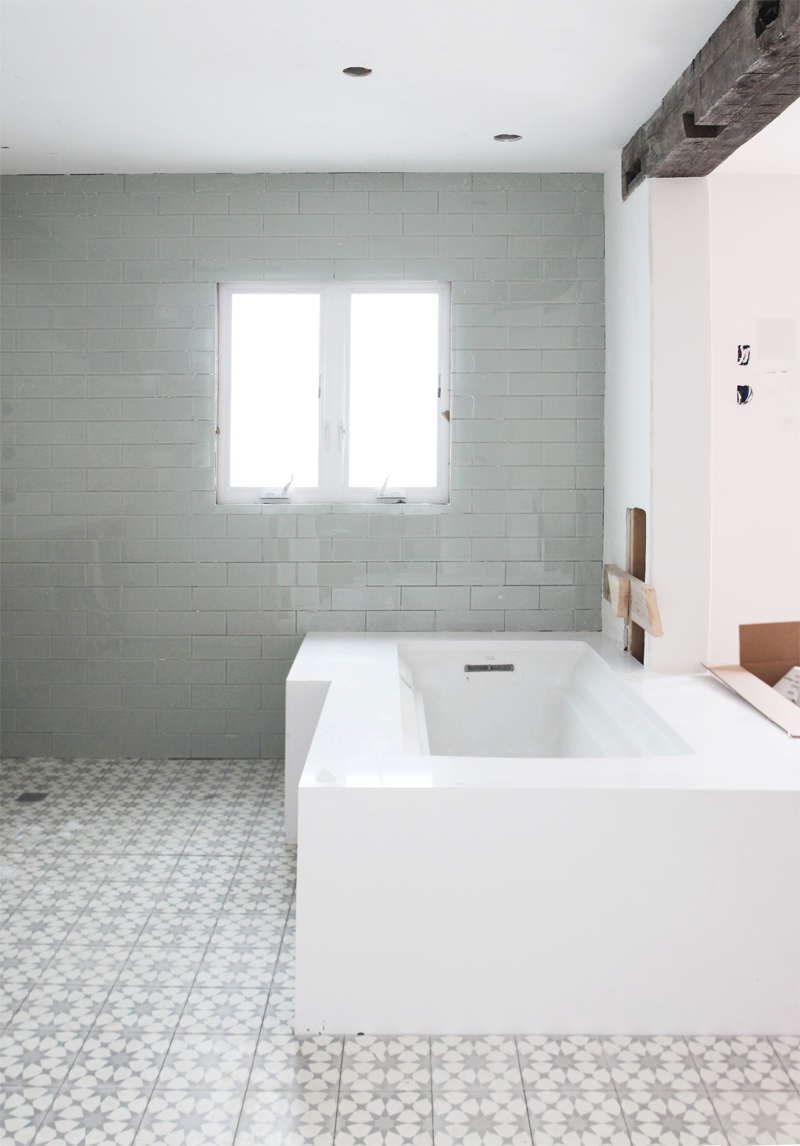 Master Bathroom, Week 14 | PepperDesignBlog.com