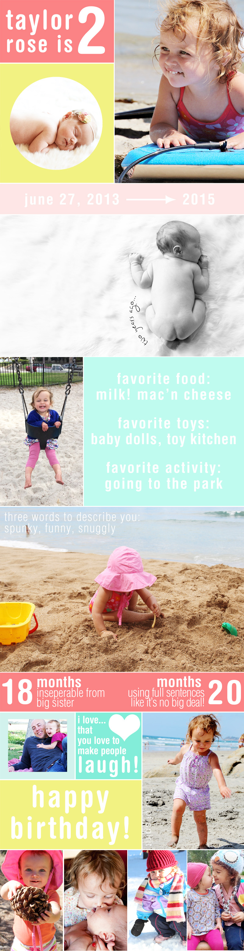 Happy 2nd Birthday, Taylor Rose! An Infographic for My Girl   PepperDesignBlog.com