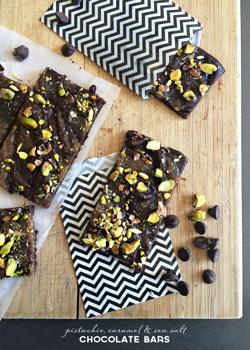 Handmade Pistachio, Caramel & Sea Salt Chocolate Bars | Father's Day | PepperDesignBlog.com