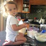 Easy Like Sunday Morning | Taylor Sneaking Pancake Batter | PepperDesignBlog.com