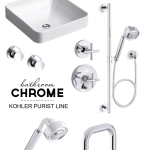Master Bedroom/Bathroom: It's All About the Chrome